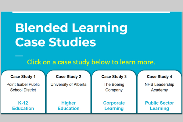 Preview of Blended Learning Case Studies Interactive Lesson