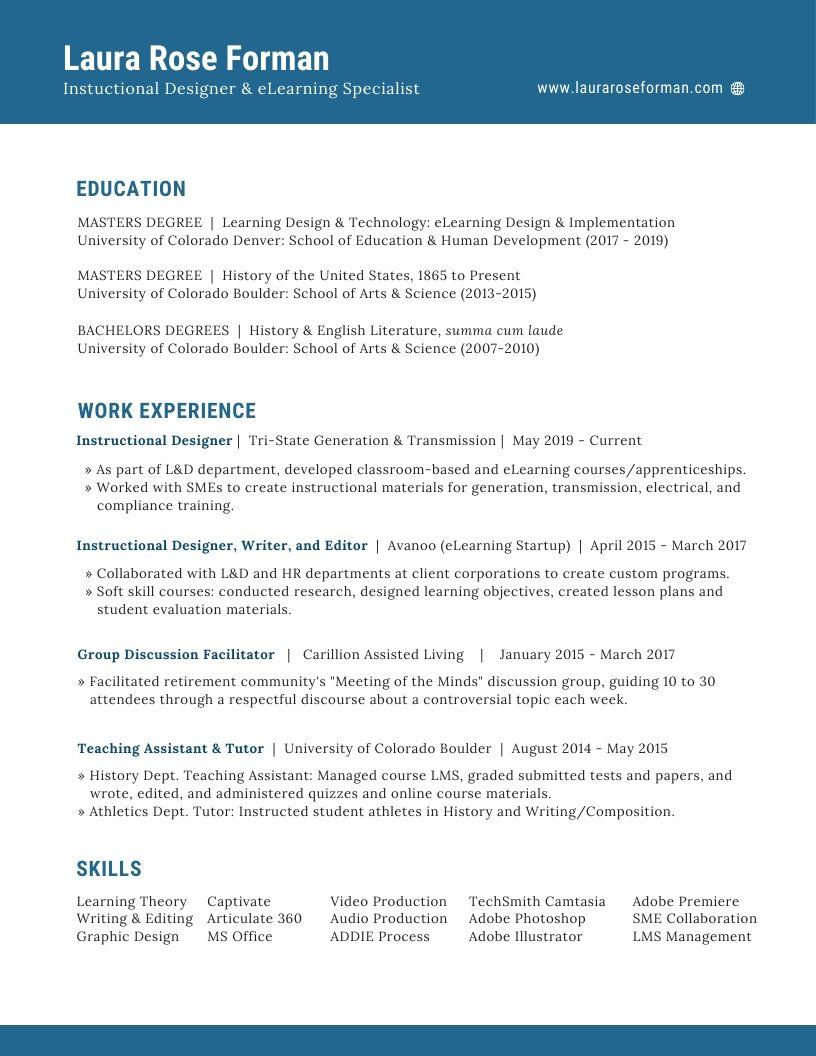 Forman Resume screenshot