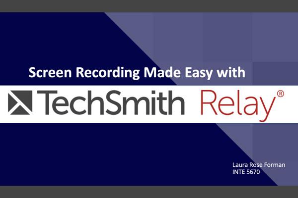 Preview of TechSmith Relay Webinar