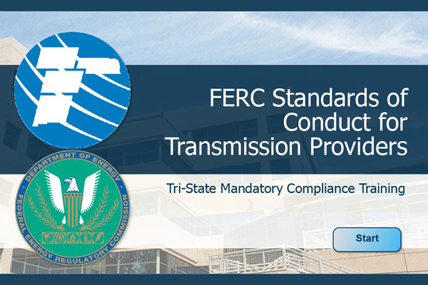 FERC Standards of Conduct Training Title Page
